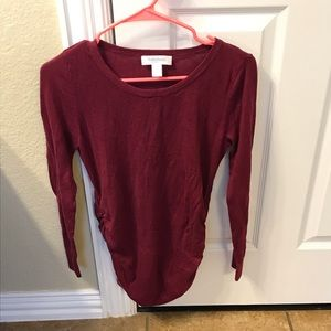 Motherhood maternity sweater burgundy